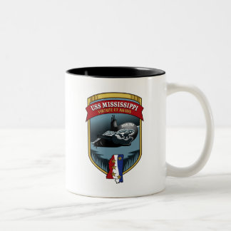 SSN 782 USS Mississippi Two-Tone Coffee Mug