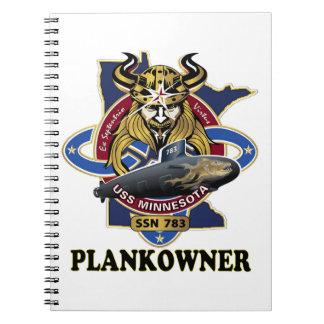 SSN 783 USS Minnesota Plank Owner Crest Notebook