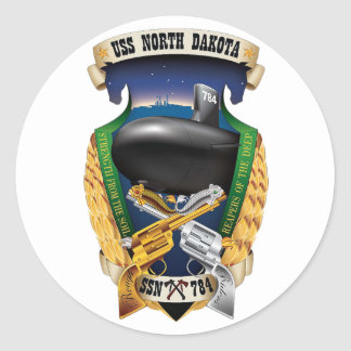 SSN-784 USS North Dakota Classic Round Sticker
