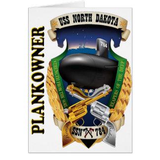 SSN-784 USS North Dakota Plankowner Card