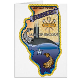 SSN 785 USS Illinois Card