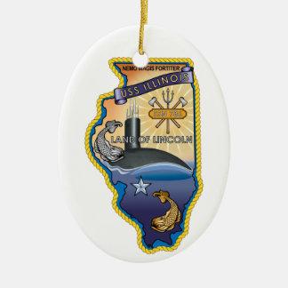SSN 785 USS Illinois Ceramic Ornament
