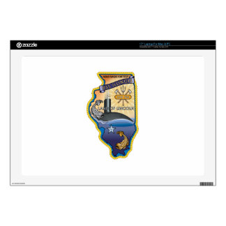 """SSN 785 USS Illinois Decals For 17"""" Laptops"""