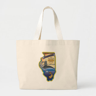 SSN 785 USS Illinois Large Tote Bag