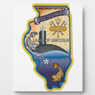 SSN 785 USS Illinois Placas De Madera