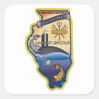 SSN 785 USS Illinois Square Sticker