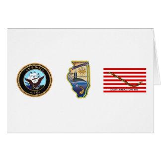 SSN 785 USS Illinois Tarjeta De Felicitación
