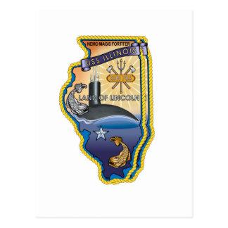SSN 785 USS Illinois Tarjeta Postal