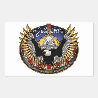 SSN 785 USS John Warner Rectangular Sticker
