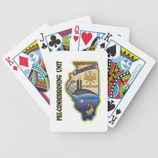 SSN 786 PCU llinois Bicycle Playing Cards