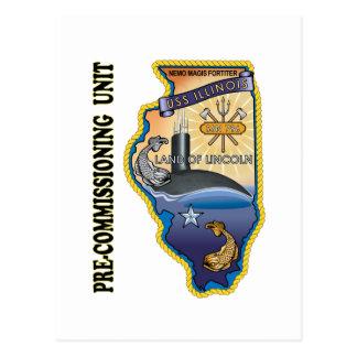 SSN 786 PCU llinois Postcard