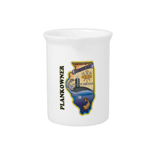 SSN 786 USS Illionois Plank Owner Drink Pitcher