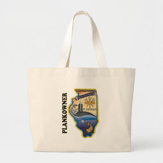 SSN 786 USS Illionois Plank Owner Large Tote Bag
