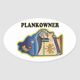 SSN 786 USS Illionois Plank Owner Oval Sticker