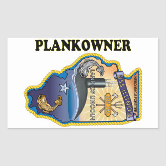 SSN 786 USS Illionois Plank Owner Rectangular Sticker
