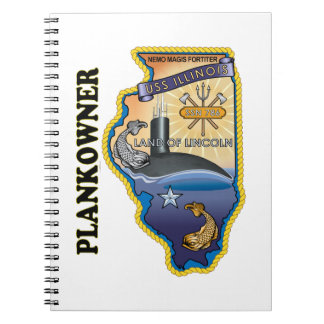 SSN 786 USS Illionois Plank Owner Spiral Notebook