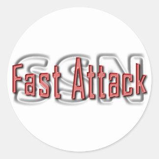 SSN Fast Attack Classic Round Sticker