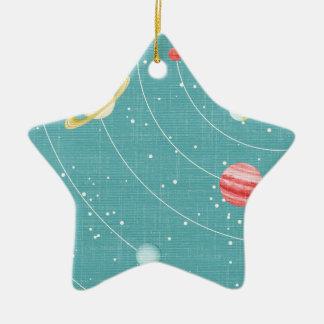SSP CARTOON KIDS SOLAR SYSTEM PAPER PLANETS STARS CHRISTMAS ORNAMENT