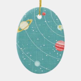 SSP CARTOON KIDS SOLAR SYSTEM PAPER PLANETS STARS CHRISTMAS TREE ORNAMENT