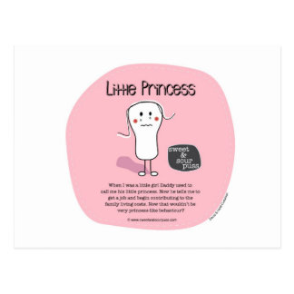 SSP-Little Princess Sweet and Sour Puss Postcard