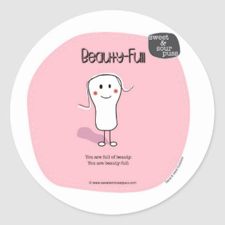 (SSPG23-Beauty-Full Sweet and Sour Puss Classic Round Sticker