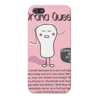 SSPG43-Drama Queen Sweet and Sour Puss Cover For iPhone SE/5/5s