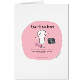 SSPG64-Guilt-Free Food Sweet and Sour Puss Greeting Card