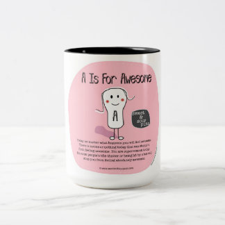 SSPG81-'A' Is For Awesome Sweet and Sour Puss Two-Tone Coffee Mug