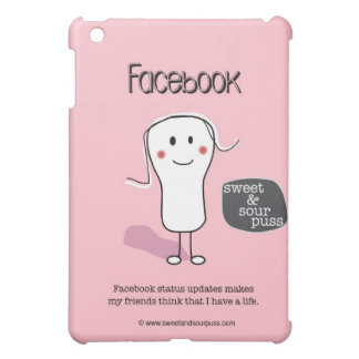 SSPG90-Facebook Status Updates Sweet and Sour Puss Case For The iPad Mini