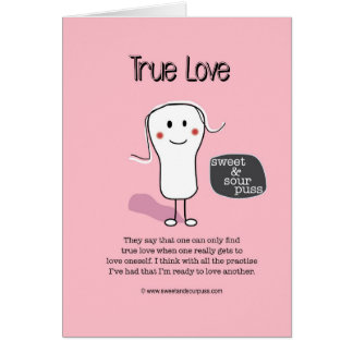 SSPG91-True Love Sweet and Sour Puss Greeting Cards