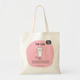 SSPG92-Self Love Sweet and Sour Puss Budget Tote Bag