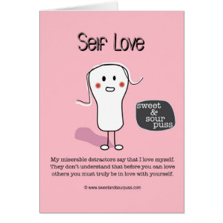 SSPG92-Self Love Sweet and Sour Puss Greeting Cards