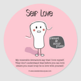 SSPG92-Self Love Sweet and Sour Puss Round Sticker