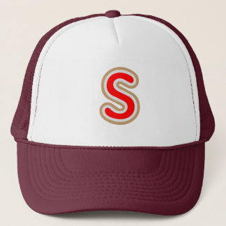SSS ALPHABETS ALPHA JEWELS PEARL GIFTS TRUCKER HAT