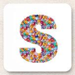 SSS Beautiful ALPHA S mala of Pearls Gems Jewels Drink Coaster