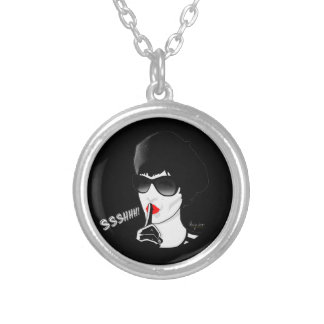 Ssshhh! Silver Plated Necklace