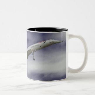 SST super sonic transport Two-Tone Coffee Mug