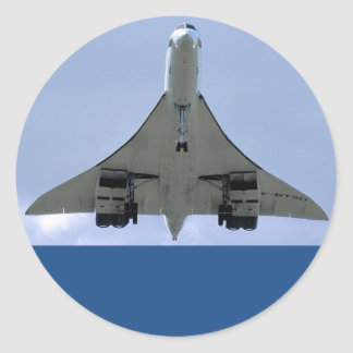 SST SUPERSONIC TRANSPORT AIRCRAFT CLASSIC ROUND STICKER