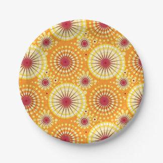 SStarbursts and pinwheels, saffron and raisin Paper Plate