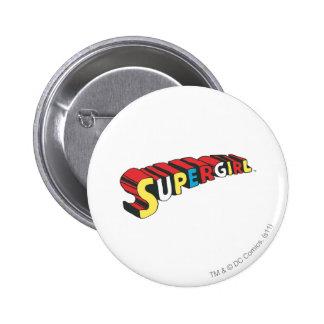 SSupergirl Colorful  Logo Pin