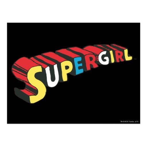 SSupergirl Colorful  Logo Post Cards