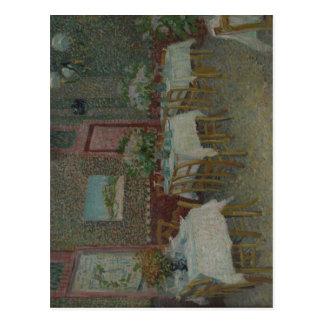 ?sszefoglal? Description Interior of a restaurant  Postcard