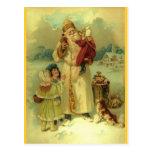 St. 1897 del vintage de Santa Nick Tarjetas Postales