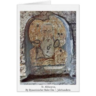 St. Abbacyrus Card
