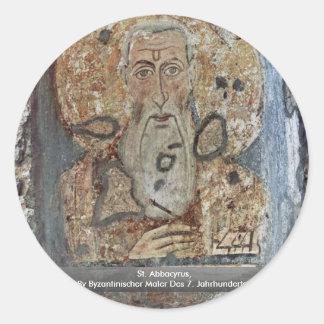 St. Abbacyrus Classic Round Sticker