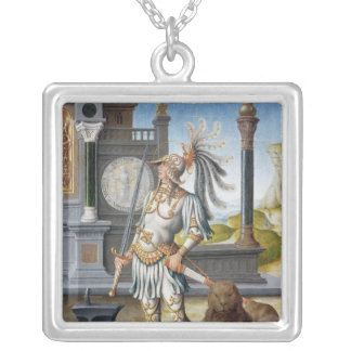 St. Adrian in Armour in an Open Landscape Personalized Necklace