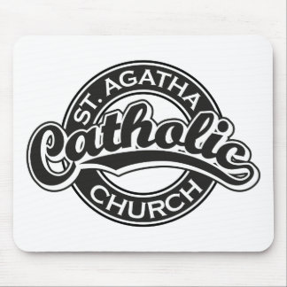 St. Agatha Catholic Church Black Mouse Pad
