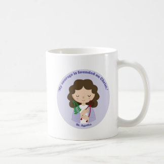 St. Agatha Classic White Coffee Mug