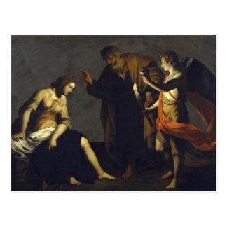 St. Agatha con San Pedro y el ángel - Alessandro Postal