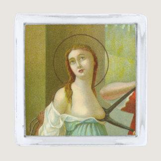 St. Agatha (M 003) Silver Finish Lapel Pin